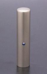 実印 ジュエルズチタン+ ブルーサファイヤ 13.5mm 【印鑑ケース付】