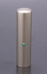 実印 ジュエルズチタン+ エメラルド 15.0mm 【印鑑ケース付】