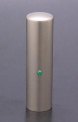 実印 ジュエルズチタン+ エメラルド 16.5mm 【印鑑ケース付】