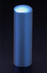 チタン印鑑/実印 プリズム【カラー】 アクア 18.0mm 【印鑑ケース付】