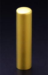 チタン印鑑/実印 プリズム【カラー】 クラウン 15.0mm 【印鑑ケース付】