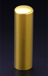 チタン印鑑/実印 プリズム【カラー】 クラウン 18.0mm 【印鑑ケース付】