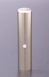 チタン印鑑/実印 ジュエルズチタン アクアマリン 13.5mm 【印鑑ケース付】