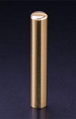 プレミアムチタン/認印 プレミアムゴールド 10.5mm 【印鑑ケース付】