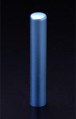 チタン印鑑/認印 プリズム【カラー】 アクア 10.5mm 【印鑑ケース付】