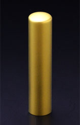 チタン印鑑/認印 プリズム【カラー】 クラウン 13.5mm 【印鑑ケース付】