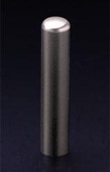 チタン印鑑/認印 プレーンブラスト 12.0mm 【印鑑ケース付】